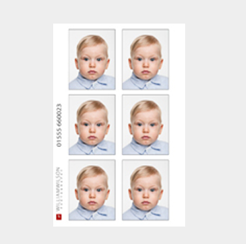 Child passport photos